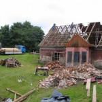 Stara plebania- wykonane prace- remont dachu